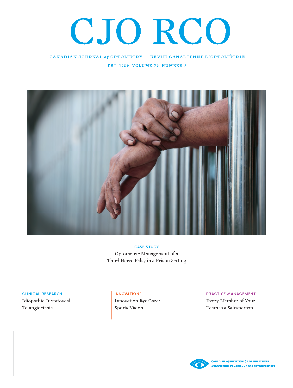 Cover of CJO Volume 79 Number 3, showing hands sticking out from behind prison bars