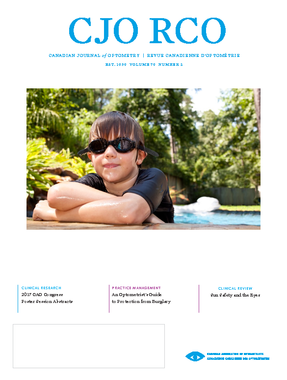 Cover of CJO Volume 79 Number 2, showing a boy wearing sunglasses