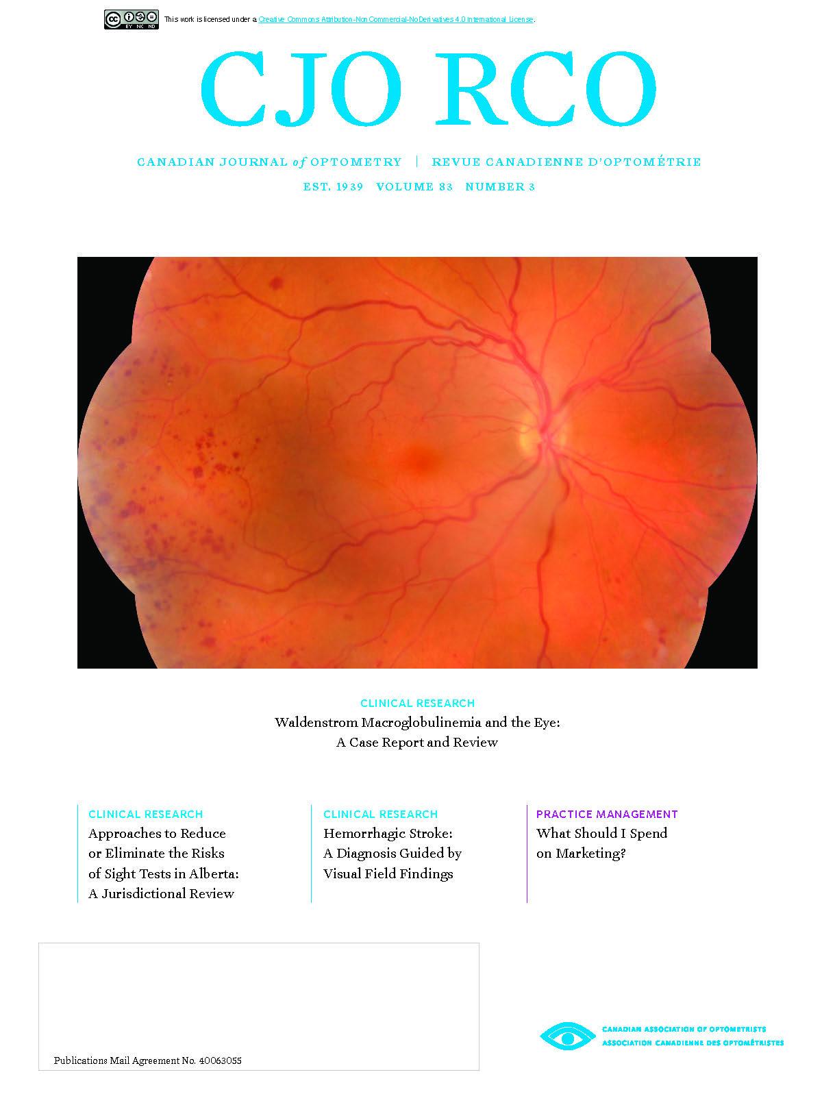 View Vol. 83 No. 3 (2021): CJO - Fall - 2021
